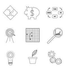 strategy and business success lined icon vector image vector image