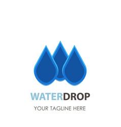 water drop logo icon design clean aqua blue vector image vector image