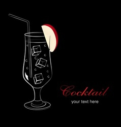 Cocktail with apple vector image