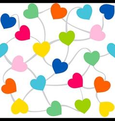 colorful heart random arrange pattern design vector image vector image