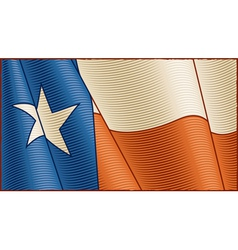 Vintage Texas flag background vector image vector image