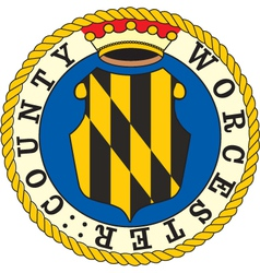 Worcester County seal vector image