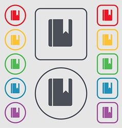book bookmark icon sign symbol on the Round and vector image vector image