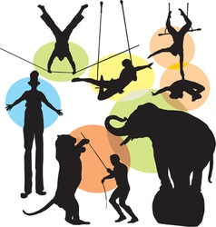 circus silhouettes vector image
