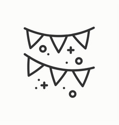 Confetti tinsel icon falling tiny pieces party vector
