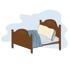 kid bed vector image