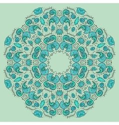 Round floral ornamental frame vector image vector image