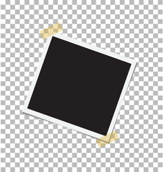 vintage photo frame sticked on duct tape to vector image vector image