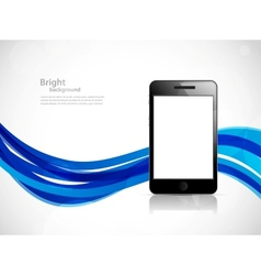 Background with phone vector image