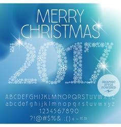Fantastic Merry Christmas 2017 greeting card vector image