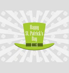 happy st patricks day leprechaun hat vector image