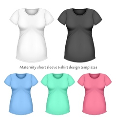 Maternity short sleeve t-shir vector image vector image