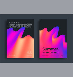 Abstract gradient poster vector
