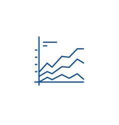 area graphics chart line icon concept area vector image