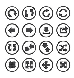 arrow icon set vector image