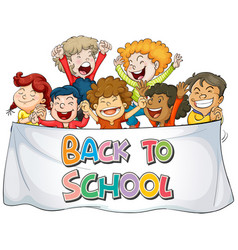 Back to school sign theme vector