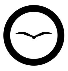 bird icon black color in circle vector image