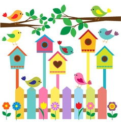 Birdhouses vector
