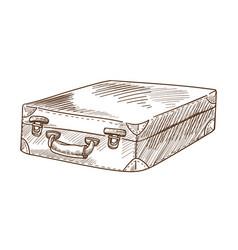 Briefcase or suitcase luggage or bag retro vector