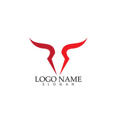 bull logo template icon vector image