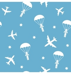 Cartoon Airplane seamless pattern vector