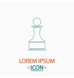 Chess Pawn computer symbol vector
