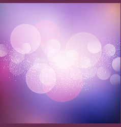 Christmas background with bokeh lights vector
