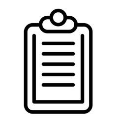 Clipboard insurance icon outline style vector