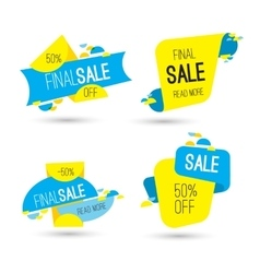 Colorful advertising final sale banner 50 percent vector
