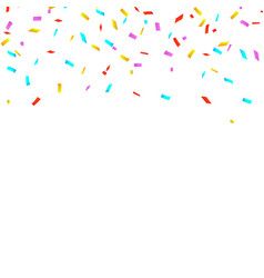 colorful bright confetti isolated on white vector image