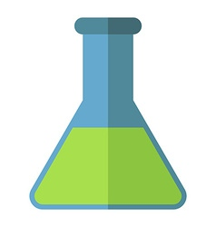 Conical chemical flask isolated vector
