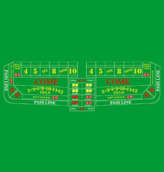Craps table vector