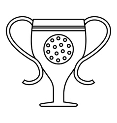 Cup golf icon outline style vector