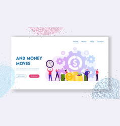 debt or mortgage refinance website landing page vector image