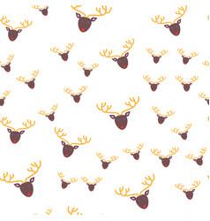 Deer head seamless pattern wallpaper design vector
