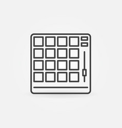 Drum machine concept icon in thin line vector