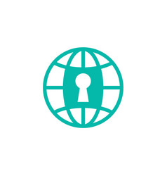 earth protection security logo design vector image