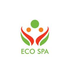 Eco spa logo vector