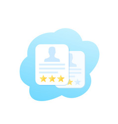 Employee review evaluation icon vector