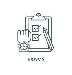 exams line icon linear concept outline vector image