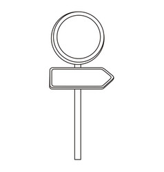 figure advices with sign vector image
