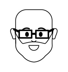 Figure people happy face man with glasses icon vector