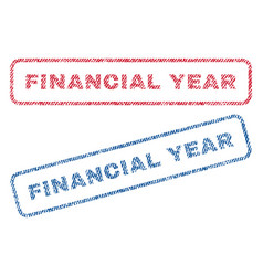 financial year textile stamps vector image