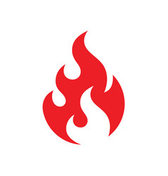 fire icon design red flame sign ignite dangerous vector image