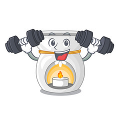 Fitness aroma lamp in a cartoon versions vector