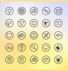 Flat line set icon graphic vector