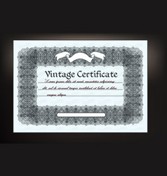 Gift coupon design in retro classic style vector