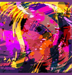 graffiti abstract beautiful colorful background vector image