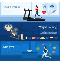 Gym Workout Banner vector image
