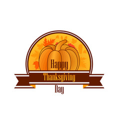 happy thanksgiving day celebratory banner vector image